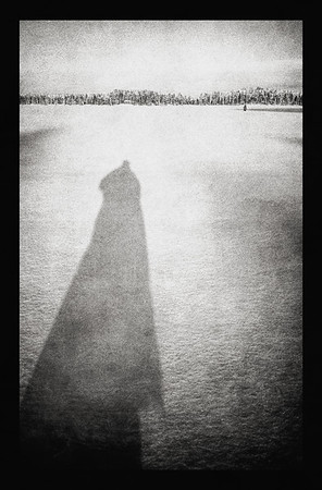 Shadow on Lake (Longing for Someone to come) BW