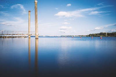 Lake And Pillars