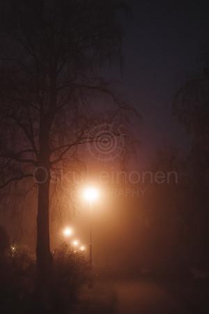 Night Walk At Pispala XV (Street Lights)