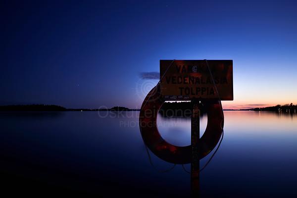 Signboard At Night