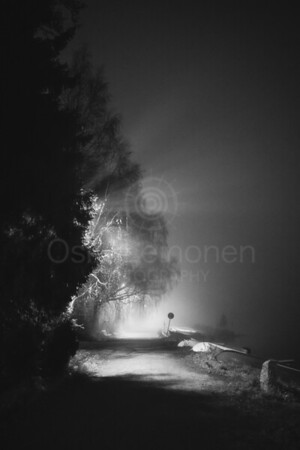 Night Walk At Pispala VII (Rays Of Light)
