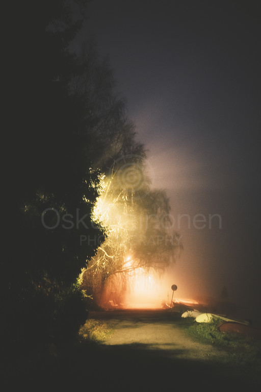 Night Walk At Pispala XI (Vivid Lights)