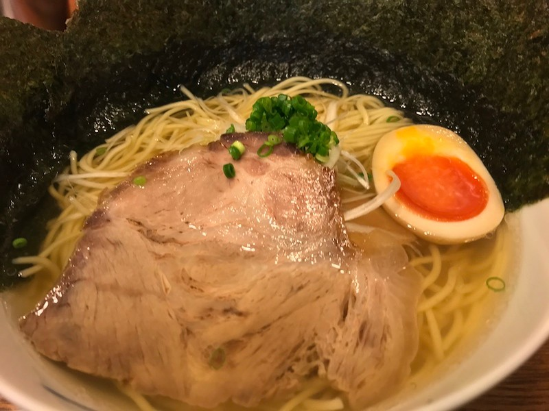 Close-up of an unassuming-looking bowl of ramen.