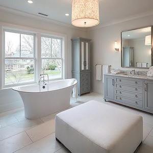 instead of sunken bath option 2, free standing bath infront of window?