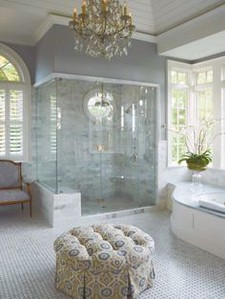 wet room treated like part of the house rather than an out of place installation