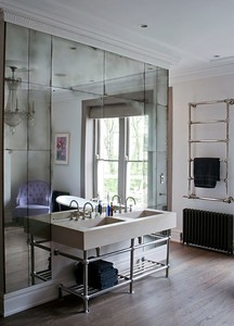 split mirror make for a more traditional look instead of nouvo riche