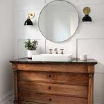 chest of drawers turned vanity.
