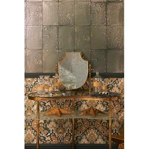 antiqued mirror wallpaper