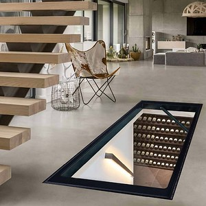 glass trap door showing well lit win collection