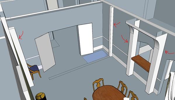 new door to new dining room
