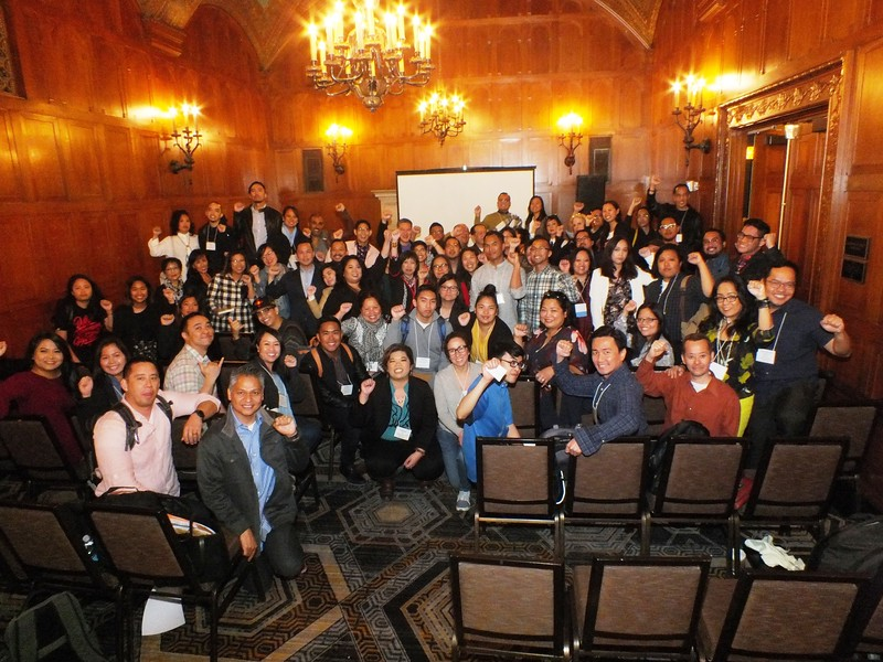 Saturday's AAAS Filipino American section meeting found standing room only while self introductions took almost the whole time allocated for the meeting. Here is their traditional FilAm group photo to document their annual meeting at AAAS conferences.
