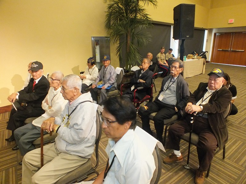 The ten surviving Filipino American WWII Veterans who were among  the sixty one Congressional Gold Medals presented. The fifty one others were presented to the families next of kin last October 14, 2018 in San Diego.
