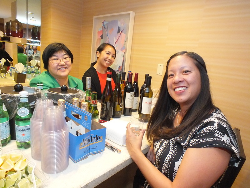 (L-R) JCLC, Inc. , Treasurer, Dora Ho, (CALA), is assisted by Filipina librarians Joanna Fabicon and Erica Cuyugan, all from Los Angeles during a special reception for past JCLC leaders and supporters at the Downtown Albuquerque Hyatt Hotel (JCLC 2018 Host Hotel) in the Presidential Suite.