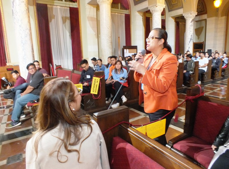 FilAm Game Changers audience of over 100 students and community leaders and families fill the Los Angeles City Hall Council Chambers. Campuses represented included, USC, Cal State Long Beach, UCLA and Pasadena City College.
