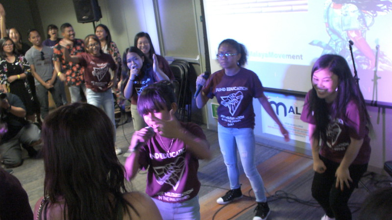 """San Francisco Bay area rapper and recording artist, Ruby Ibarra (right) is joined by young artists of """"X Lep"""" Silakbo sa Mikting and has the audience up on their feet and rapping along."""