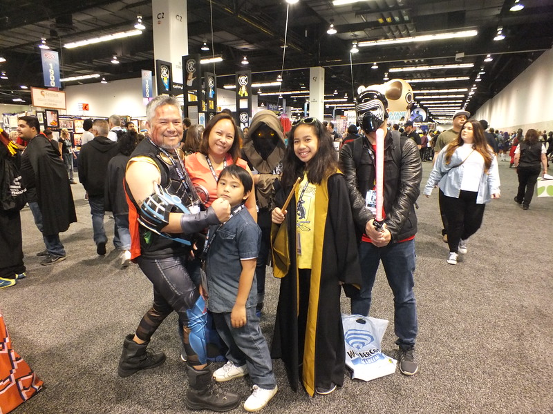 A typical(?) Filipino American Family in CosPlay roaming the  2018 WonderCon at the Anaheim Convention Center enjoying the pop culture adventure.