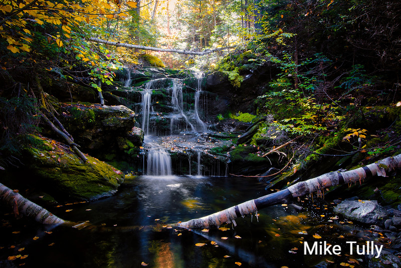 Unnamed waterfall along Spur Brook - Low and Burbank's Grant, NH