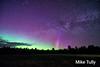 Aurora and Milky Way over Abbot, Maine