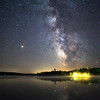 Mars and the Milky Way over Piper Pond