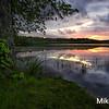 Sunset at Harris Pond