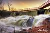 The falls at Spicket Dam, Methuen, MA