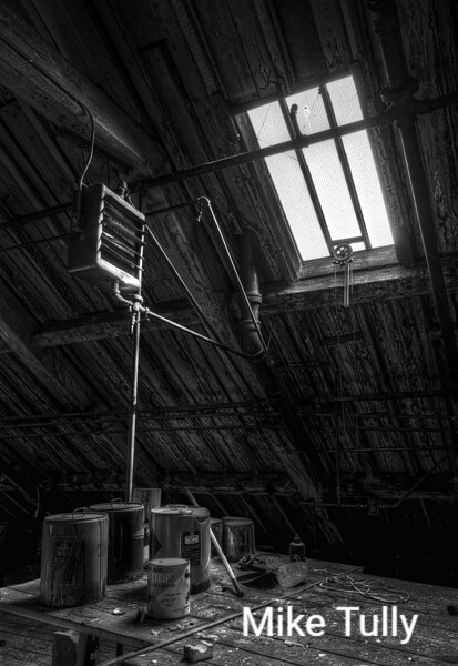 in the attic of the Stone Mill, Lawrence, Massachusetts
