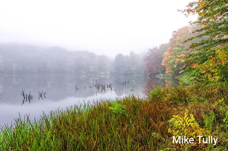 A foggy morning at Winnekenni Park, Haverhill, Massachusetts