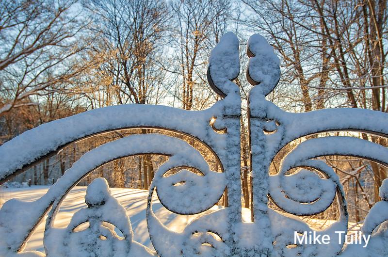 Sunrise at the gate to Greycourt - Methuen, Massachusetts