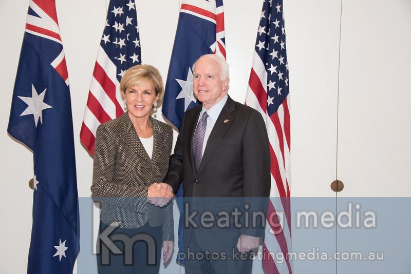 Julie Bishop's Meeting with United States Senator John McCain