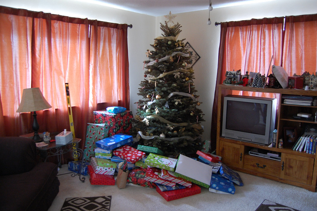 Christmas at my in-law's house, the Wolfs.