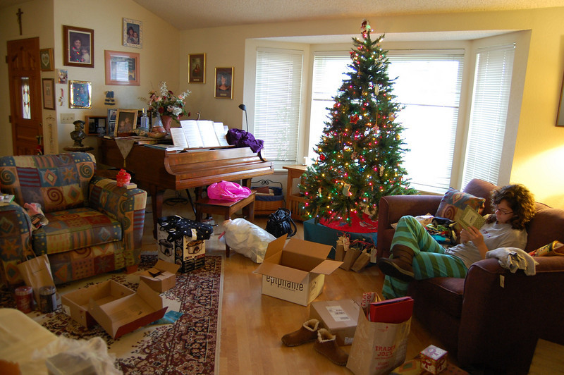 The aftermath of Christmas at my parent's house.
