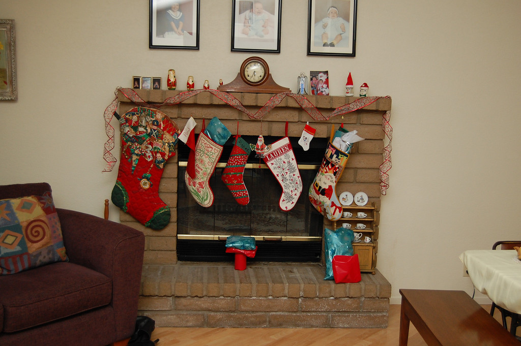 Fireplace at my parents house.