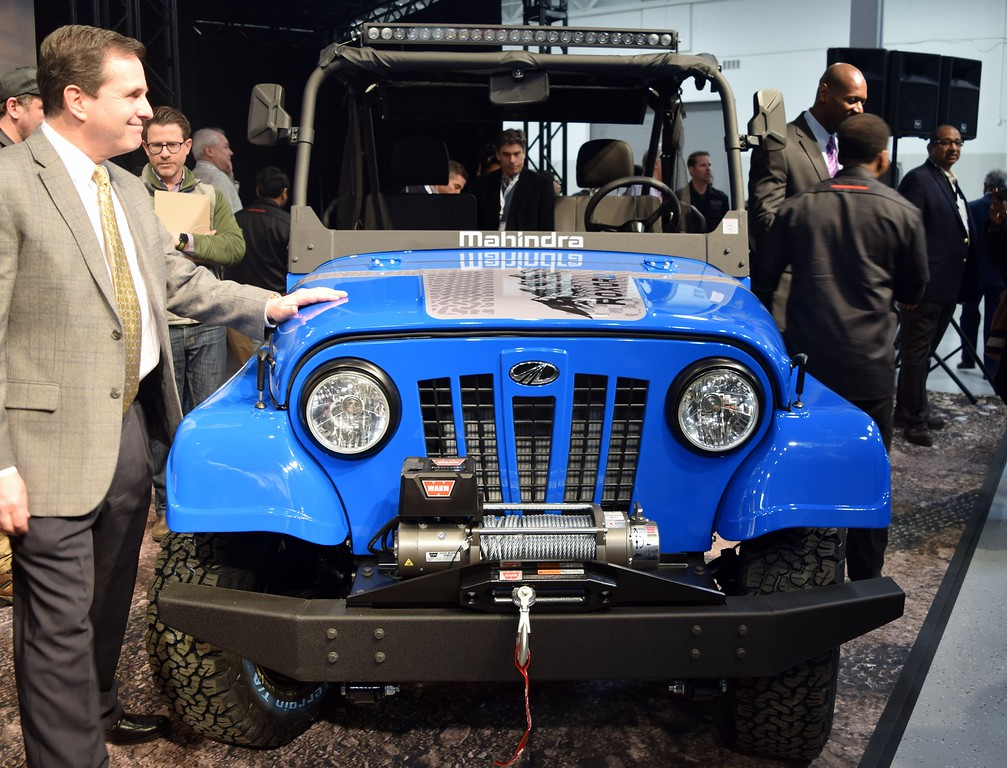. Mahindra Automotive North America unveiled its new Mahindra Roxor, an exclusively off-road, side-by-side vehicle based off a popular Mahindra design from India, at its new automotive plant to a crowd of employees and dignitaries in Auburn Hills on Friday, March 2, 2018.