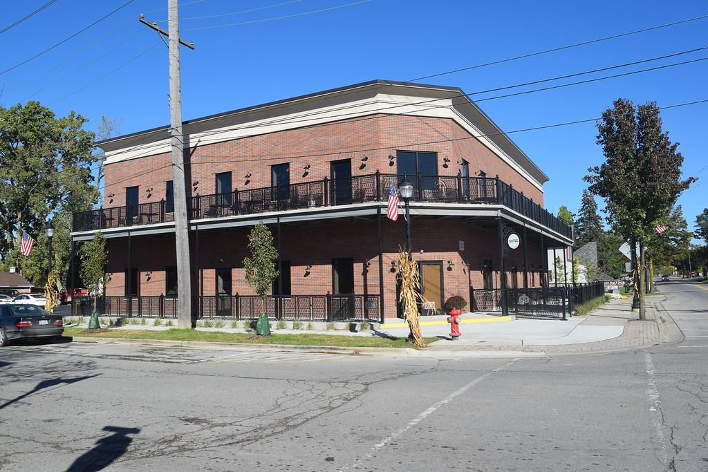 . The new South Lyon Hotel, 201 N. Lafayette Street, in South Lyon, Mich., pictured here on Monday, Oct. 9, 2017, is nearing completion almost 16 months after the original historic structure, which dated back to 1867, was destroyed by a fire. Co-Owner Corry Bala said he\'s hoping to open at the end of the month. (Mark Cavitt/The Oakland Press)