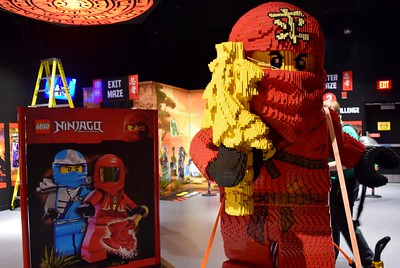 Inside the new Ninjago Training Camp exhibit at Legoland Discovery Center Michigan at Great Lakes Crossing Outlets in Auburn Hills on Friday, March 24, 2017.