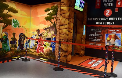 The laser ninja maze at the new Ninjago Training Camp exhibit at Legoland Discovery Center Michigan at Great Lakes Crossing Outlets in Auburn Hills on Friday, March 24, 2017.