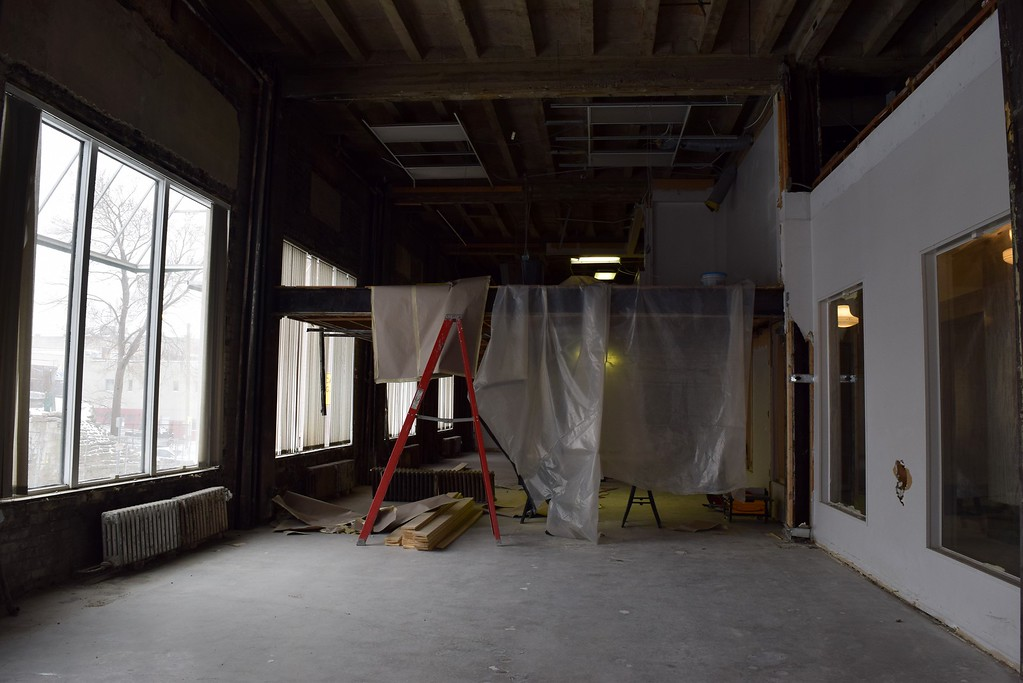 . Inside the first floor of the Riker Building, 35 Huron St. in downtown Pontiac on Monday, March 13, 2017.