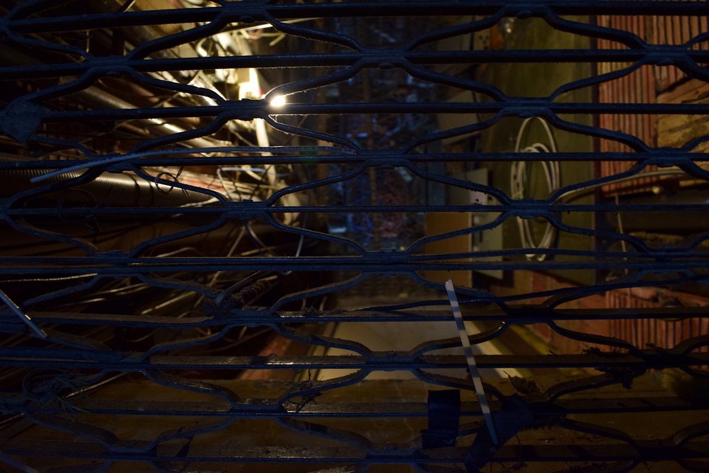 . An old electrical shaft inside the Riker Building, 35 Huron St. in downtown Pontiac on Monday, March 13, 2017.