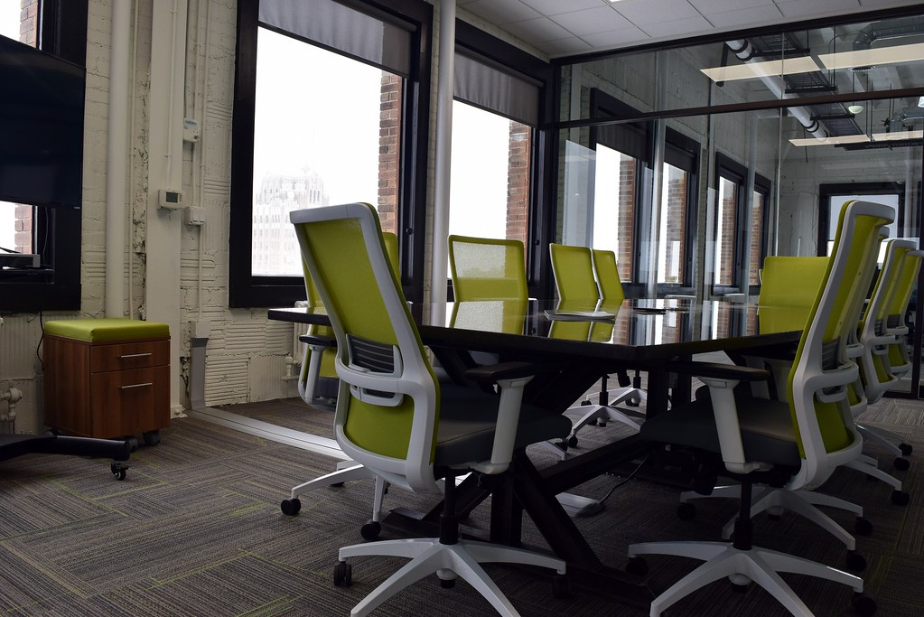 . Inside the 10th floor of the Riker Building, now home to MadDog Technology, 35 Huron St. in downtown Pontiac on Monday, March 13, 2017.
