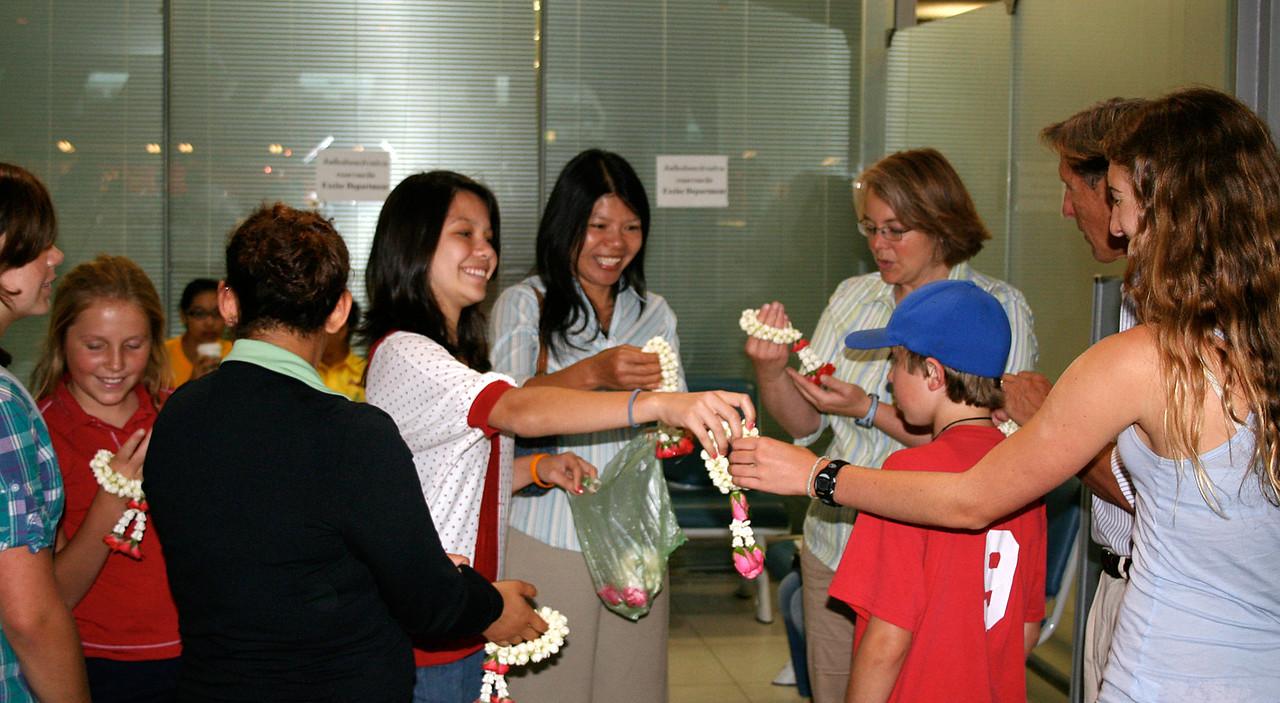 Arrival in Bangkok
