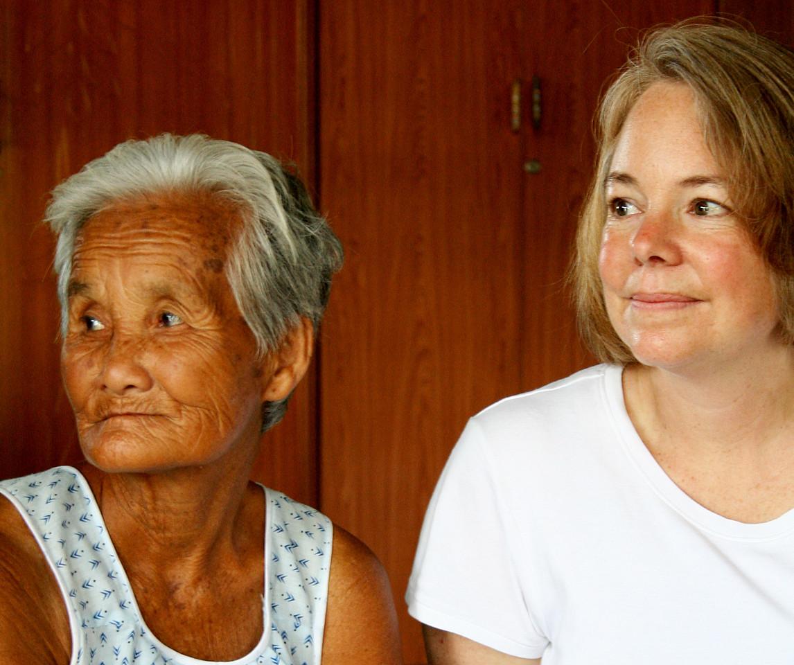Sandi with Nam Whan's grandmother, Pah Leurat