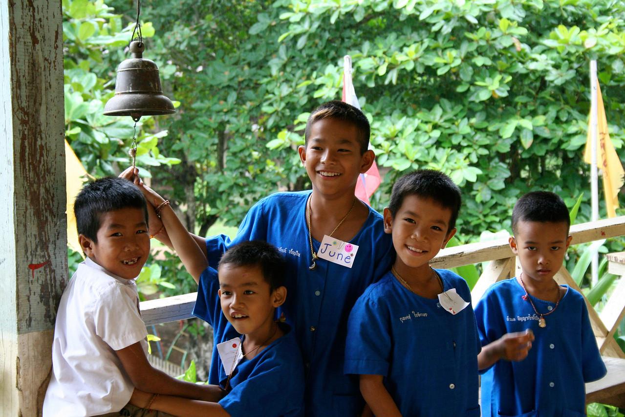 Boys at Pak Huay Chalong school