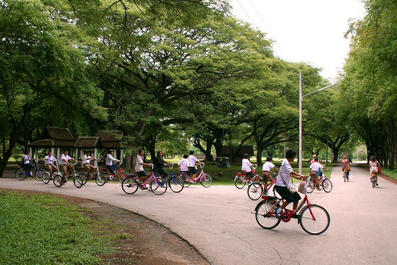 Rental bikes at Sukhothai