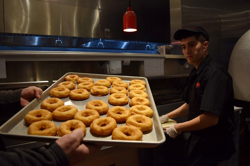 . House-made donuts at The HUB Stadium at 2550 Takata Drive in Auburn Hills on Wednesday, Jan. 4, 2017.