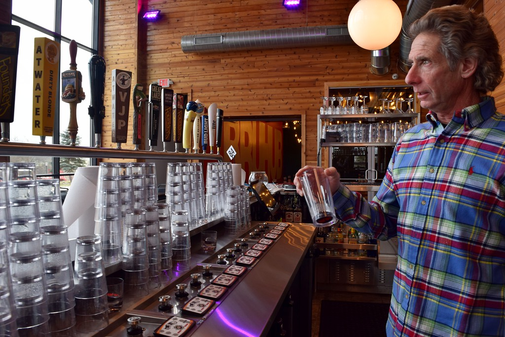 . Owner and Developer of the property Gary Tenaglia at the back bar inside The HUB Stadium at 2550 Takata Drive in Auburn Hills on Wednesday, Jan. 4, 2017.