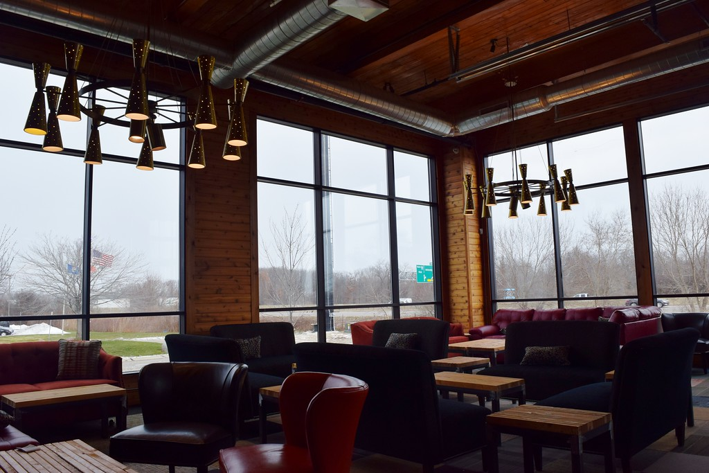 . A private lounge area at The HUB Stadium at 2550 Takata Drive in Auburn Hills on Wednesday, Jan. 4, 2017.