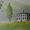 Mural, house, in the Reed Homestead
