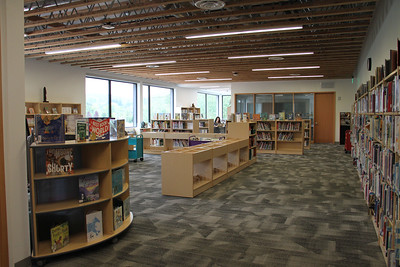 The new Lower School library is a beautiful, bright space with plenty of room for sharing stories.