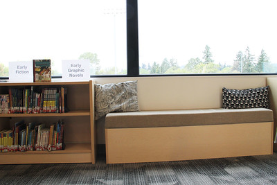 The Library has cozy, comfortable reading nooks.