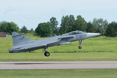 Gripen E takes off first time